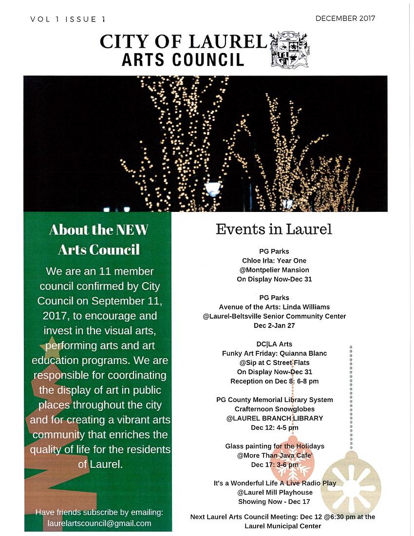 Laurel Arts Council - Dec. 2017