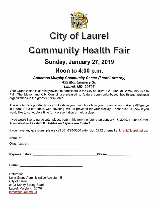 Health Fair Form 2019
