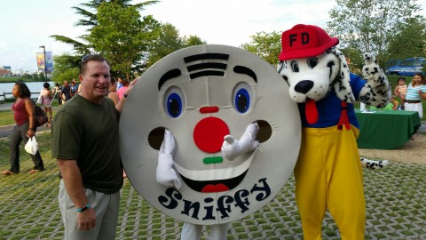 Mayor Moe, Sniffy & Sparky National Night Out 2016